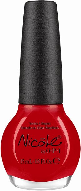 Nicole by OPI Kardashian Kolors Kourt is Red-Y for a Pedi