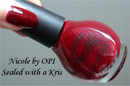 Nicole by OPI Sealed with a Kris Review & Pictures