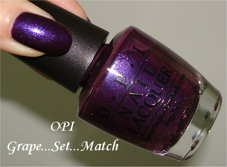 OPI Grape Set Match Review & Swatch Grand Slam Duo Set