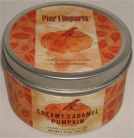 Pier 1 Imports Creamy Caramel Pumpkin Richly Scented Candle Review & Pictures