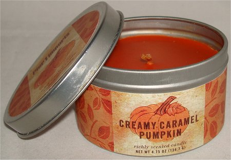 Pier 1 Imports Creamy Caramel Pumpkin Scented Candle Review & Pictures