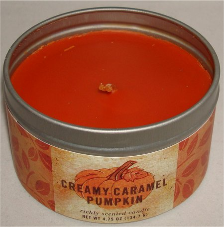 Pier One Imports Creamy Caramel Pumpkin Candle Review & Pictures