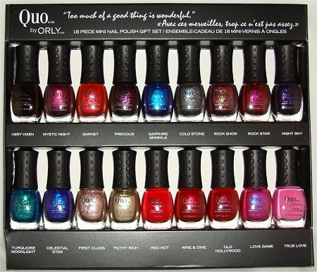 Quo by Orly 18 Piece Mini Nail Polish Gift Set Pictures Photos