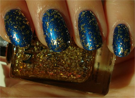Sunlight 2 Coats NYX Girls Gilded Gold Glitter Swatch & Review