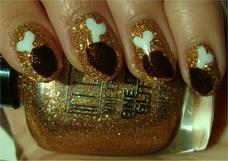 Sunlight Chicken Drumstick Nail Art Tutorial & Pictures