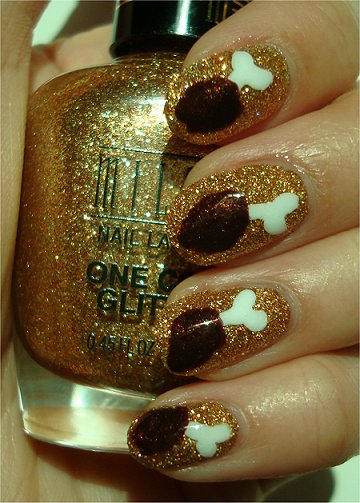 Sunlight Chicken Drumstick Nails Nail Art Tutorial & Pictures