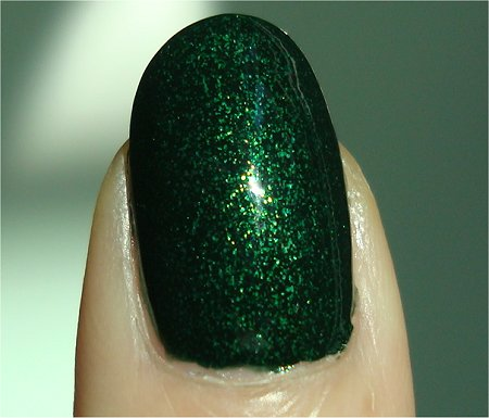 Sunlight China Glaze Glittering Garland Swatch Let It Snow Collection Holiday 2011