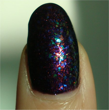 Sunlight Cult Nails Unicorn Puke Layered Over Unicorn Pee Swatch & Review