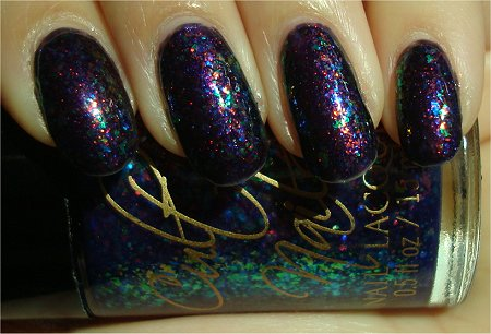 Sunlight Cult Nails Unicorn Puke Over Clarins 230 Unicorn Pee Swatches & Review