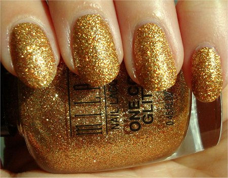 Sunlight Milani Gold Glitz One Coat Glitter Review & Swatch