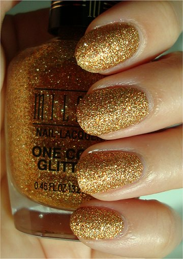 Sunlight Milani Gold One Coat Glitter Review &amp; Swatches