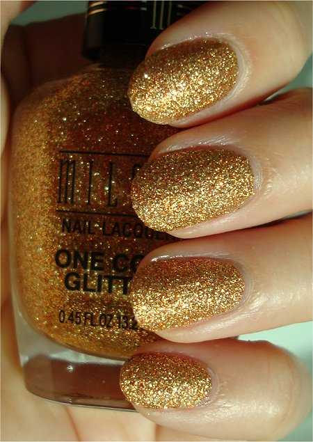 Sunlight Milani Gold One Coat Glitter Review & Swatches