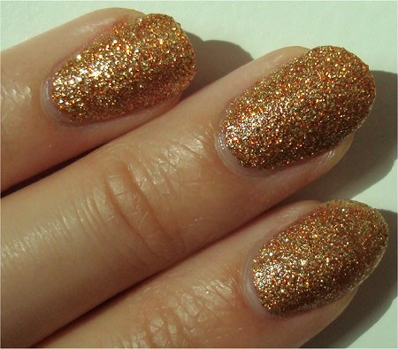 Sunlight Milani One Coat Glitter Gold Glitz Swatch & Review