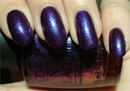 Sunlight OPI Grand Slam Duo Grape Set Match Swatch &amp; Review