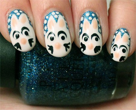 Artificial Light Rabbit Nail Art Nails