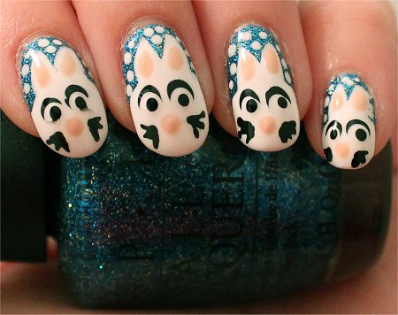 Artificial Light Rabbit Nails Nail-Art Tutorial & Swatch