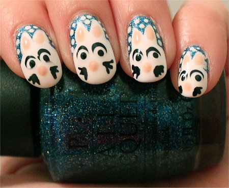 Artificial Light Rabbit Nails Nail-Art Tutorial