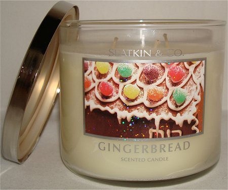Bath & Body Works Gingerbread Candle Review & Pictures Slatkin & Co.