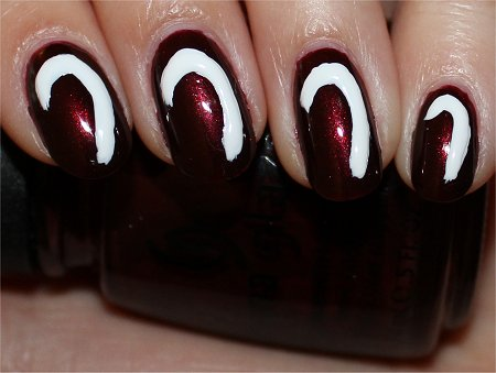 Candy Cane Nails Nail Art Tutorial Step 3