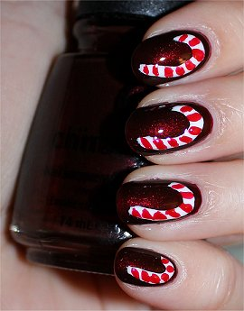Candy Cane Nails Nail Art Tutorial &amp; Swatches
