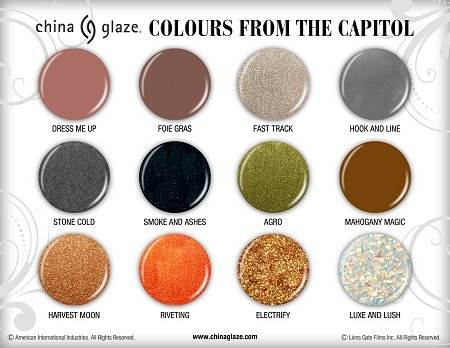China Glaze Colours from the Capitol Press Release & Promo Pictures smaller