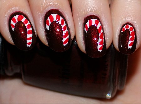 Flash Candy Cane Nails Christmas Nail Art Tutorial & Swatch