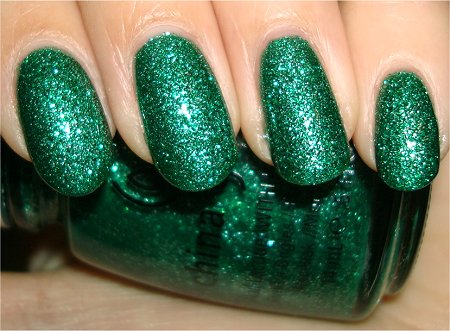 Flash China Glaze Swatch Mistletoe Kisses Review