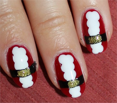 Flash Nail Art Santa Nails & Tutorial