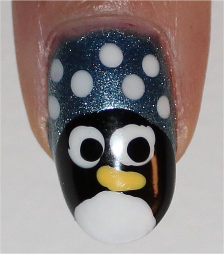 Flash Penguin Nails Easy Nail Art for Winter