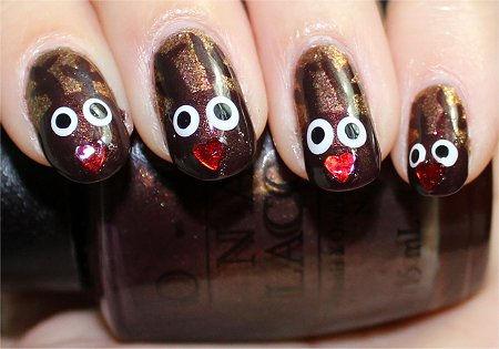 Flash Rudolph Nail Art Tutorial & Swatch