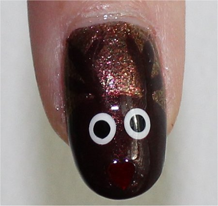 Flash Rudolph Nails Nail Art Swatches & Tutorial