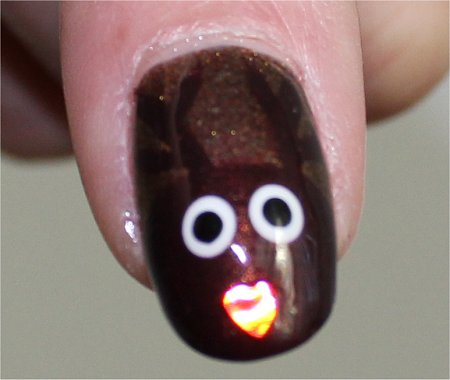 Flash Rudolph the Red Nosed Reindeer Nail Art