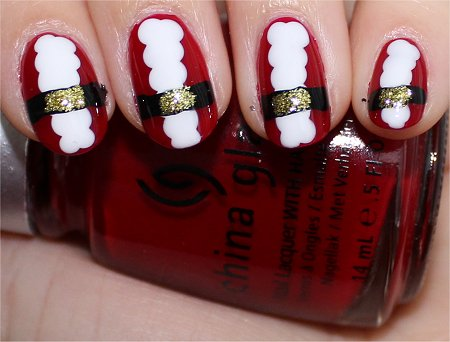 Flash Santa Claus Nail Art Tutorial & Swatches