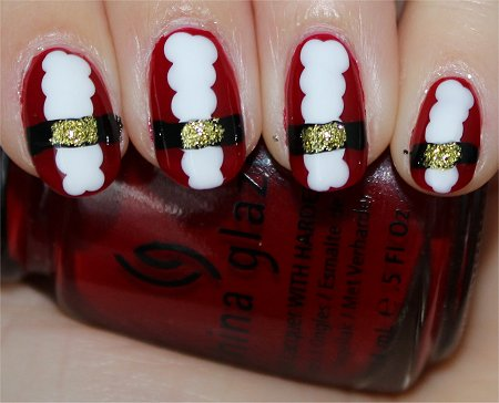 Flash Santa Claus Nails Nail Art Tutorial