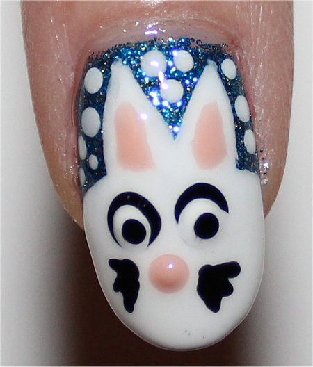 Flash Snow Bunny Nail Art Tutorial & Pics