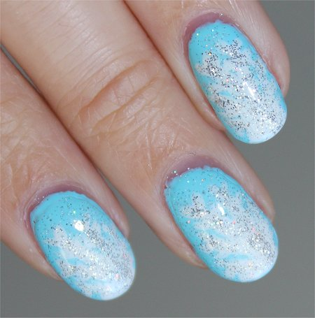 Flash Snowflake Manicure Nail Art Tutorial & Photos