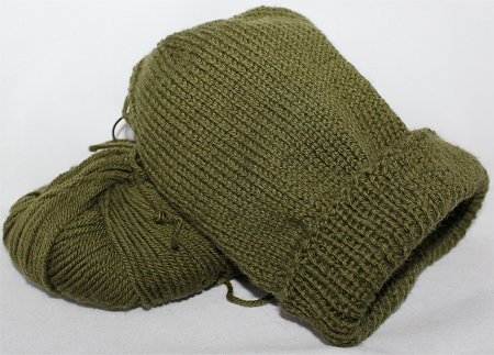 Handmade Green Knitted Hat