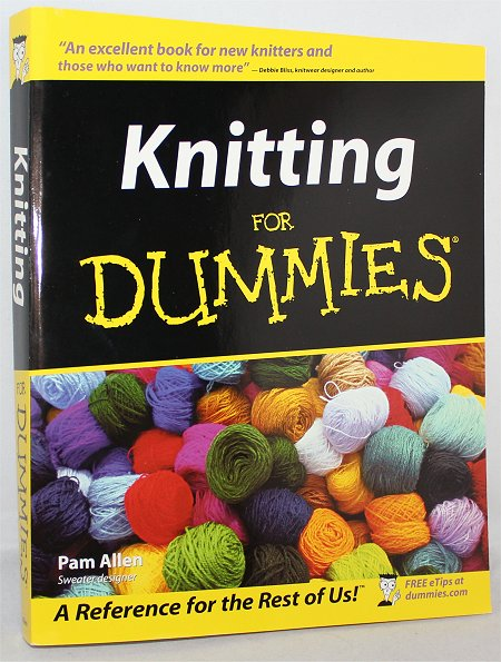 Knitting for Dummies Book & Knitting Project