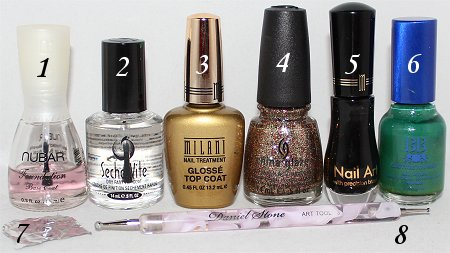 Martini Nails Nail Art Tutorial Supplies