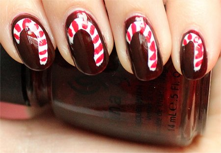 Natural Light Candycane Nail-Art Tutorial & Swatch