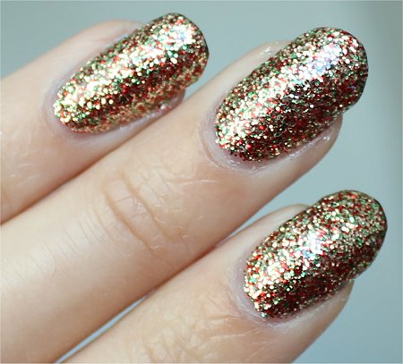 Natural Light China Glaze Let It Snow Holiday Collection Twinkle Lights Swatch & Review