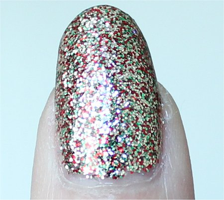 Natural Light China Glaze Let It Snow Twinkle Lights Swatch & Review