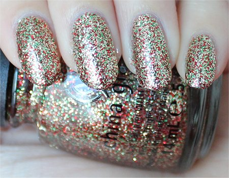 Natural Light China Glaze Twinkle Lights Swatch & Review Let It Snow Holiday Collection