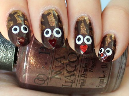 Natural Light Easy Christmas Nail Art Tutorial