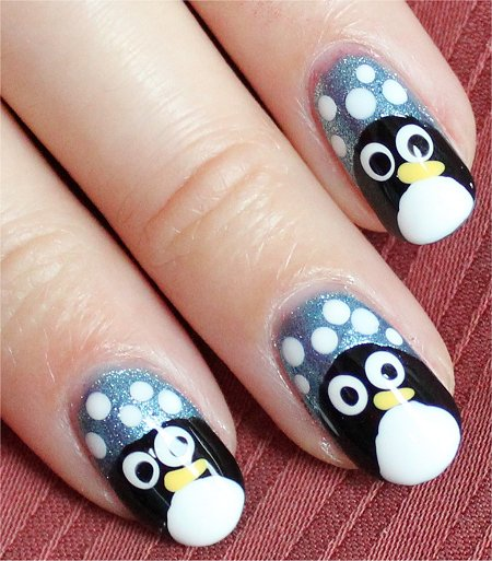 Natural Light Penguin Nails