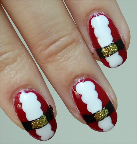 Natural Light Santa Claus Nail-Art Pictures & Tutorial