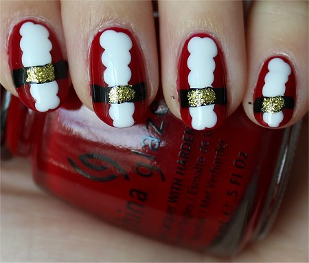 Natural Light Santa Claus Nail-Art Tutorial & Nail Swatches