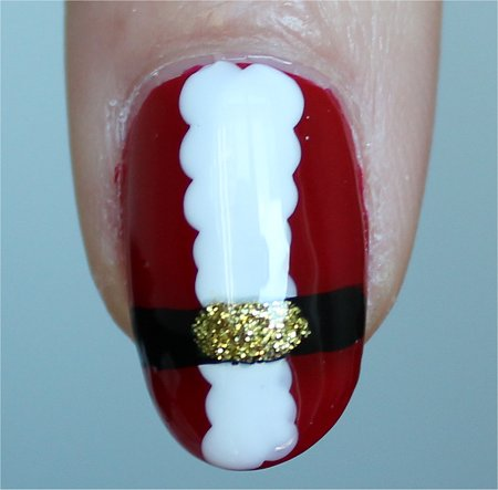 Natural Light Santa Claus Nail-Art Tutorial & Swatch