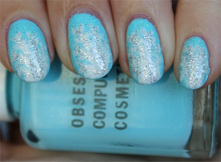 Natural Light Snowflake Nail Art Christmas Nail Tutorial & Pics