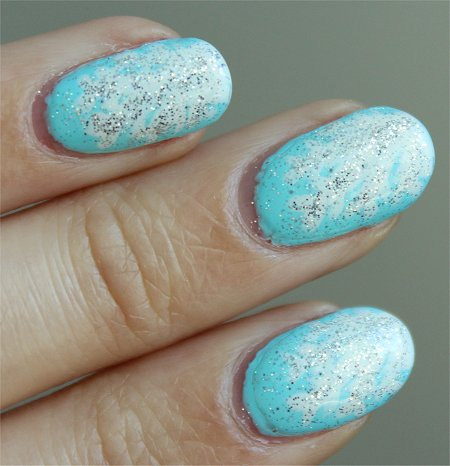 Natural Light Winter Nail Art Tutorial & Pics